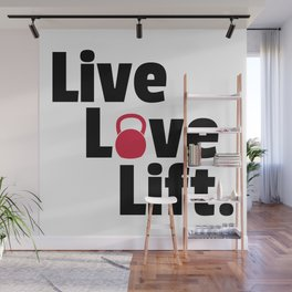 Live, Love, Lift Gym Quote Wall Mural