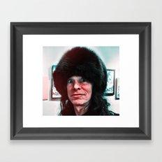 Fuzz-Head Framed Art Print