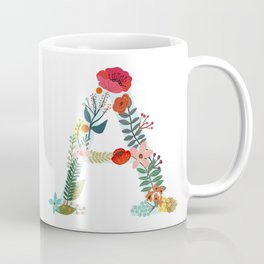 Monogram A. Letter. Initial. Typography Coffee Mug
