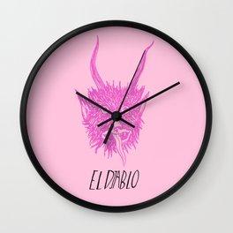 The Pink Devil Wall Clock