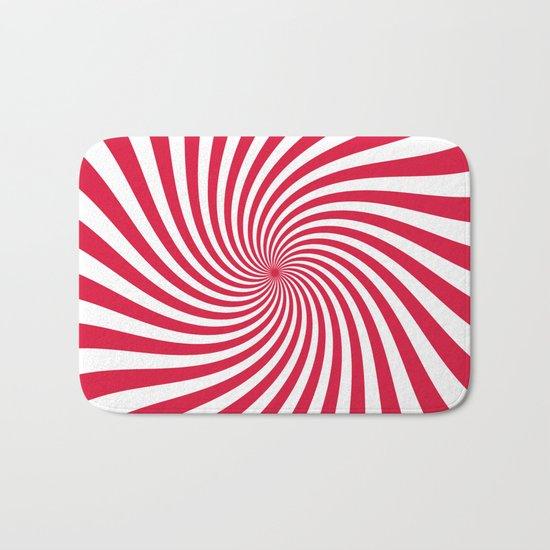 Swirl (Crimson/White) Bath Mat