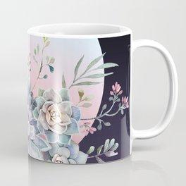 Succulent full moon Coffee Mug