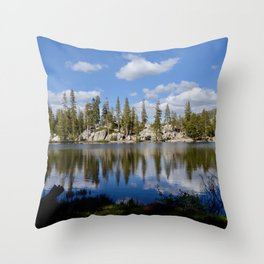 mosquito lake reflections Throw Pillow