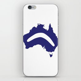 Australia Silhouette With Boomerang iPhone Skin
