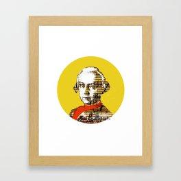 Mozart Kugel Yellow Framed Art Print