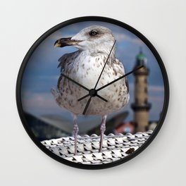 LIBERTY on the BALTIC SEA Wall Clock