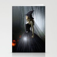 witch Stationery Cards featuring Witch by Julie Hoddinott