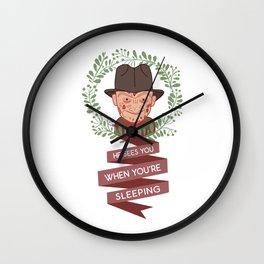 Freddy Krueger Christmas Wall Clock