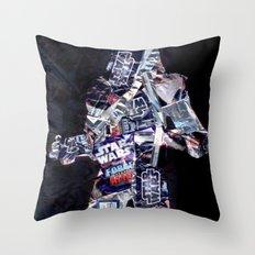 Cut StarWars Blister Collage 3 Throw Pillow
