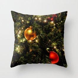 Christmas Photography - Christmas Tree Close-up V.3 Throw Pillow