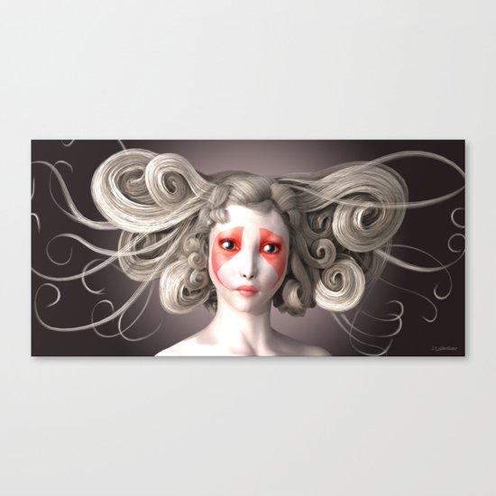Japanese fashion model Canvas Print