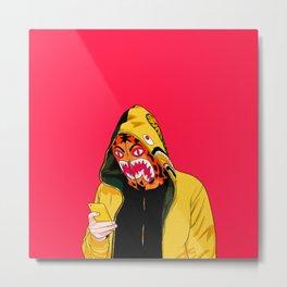 bape shark pink Metal Print