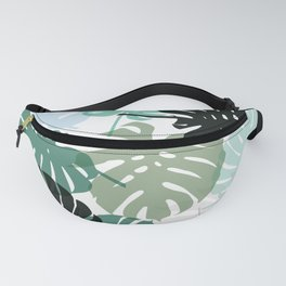 Tropical Monstera - green Fanny Pack