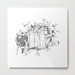 Wine in a barrel Metal Print