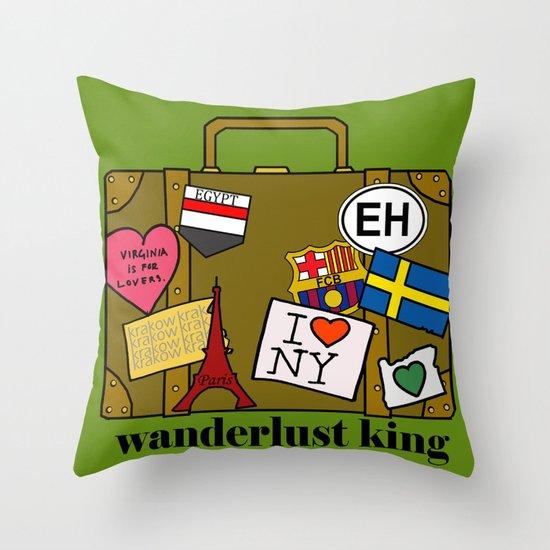 Wanderlust King Throw Pillow