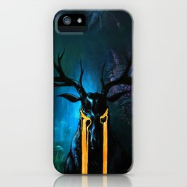 Hannibal inspired acrylic painting iPhone Case