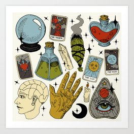 Fortune Teller Starter Pack Color Art Print