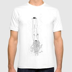 Drowning Dream White Mens Fitted Tee MEDIUM