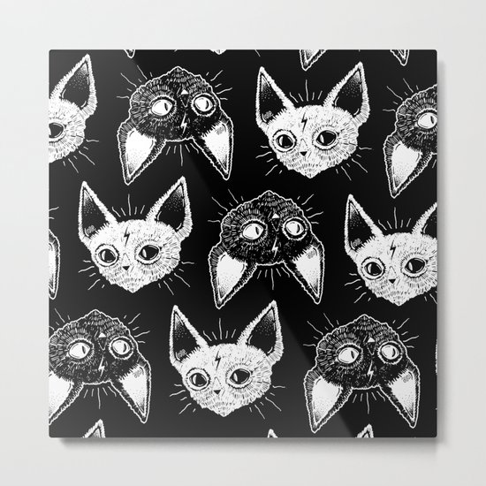 Kittens (Black Version) Metal Print