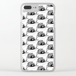 Snails Drawing/Pattern Clear iPhone Case