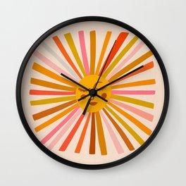 Sunshine – Retro Ochre Palette Wall Clock
