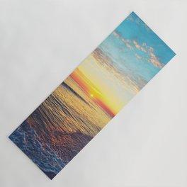 Summer Sunset Ocean Beach - Nature Photography Yoga Mat