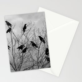 Murder Of Crows - Three Stationery Cards