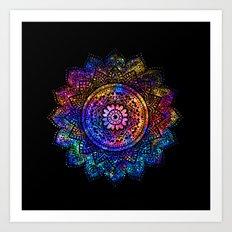 space mandala Art Print