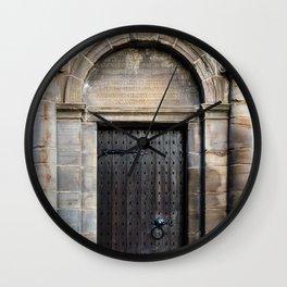 Edinburgh Mercat Cross Door Wall Clock