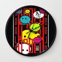 comic Wall Clocks featuring COMIC  by _Moj_