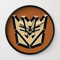 transformers Wall Clocks featuring Transformers by FilmsQuiz