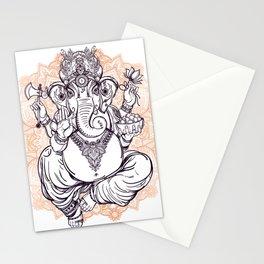 Lord Ganesha on Mandala Stationery Cards