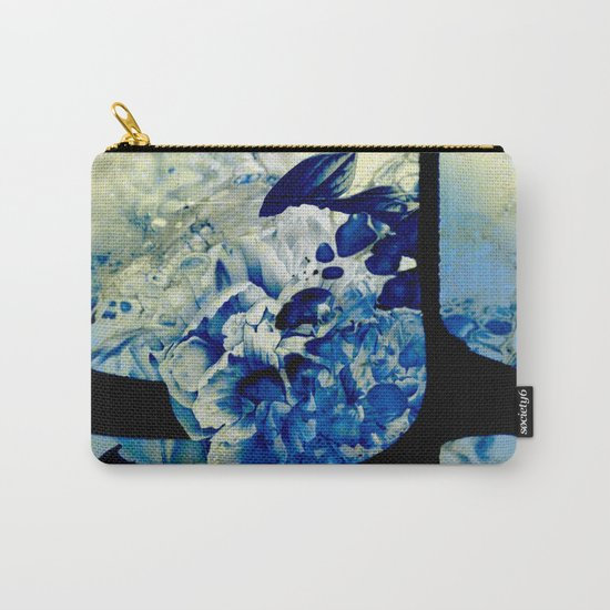 hidden blue peony Carry-All Pouch