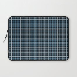 Plaid in blue and gray colors. Laptop Sleeve