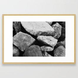 Stones I Framed Art Print