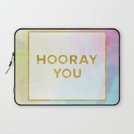 Hooray You watercolor + typography Laptop Sleeve