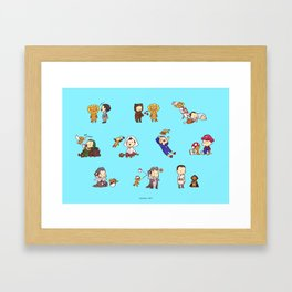 Adventures with Alistair and Guardian Lion-O Framed Art Print