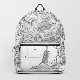 Vintage Map of Virginia (1827) BW Backpack