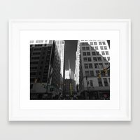 detroit Framed Art Prints featuring Detroit  by Galaxys_Limit