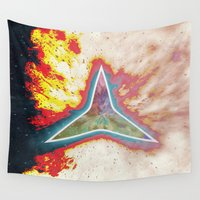 big bang Wall Tapestries featuring Big Bang by Helle Gade