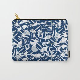 barcode, collage, stripes, denim, ink lines, graphic Carry-All Pouch