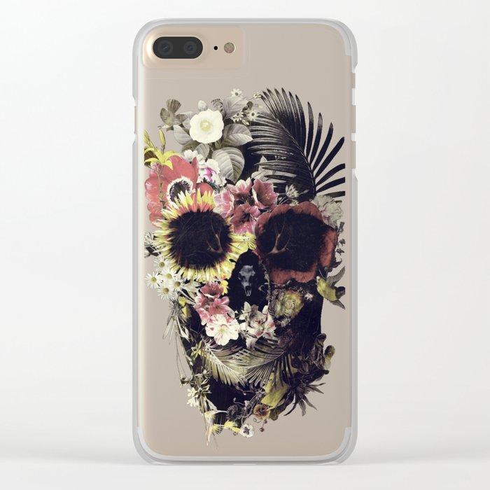 Garden Skull Clear iPhone Case