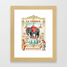 The Circus is in town Framed Art Print