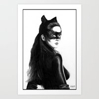 catwoman Art Prints featuring Catwoman by Gabriel Fox