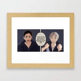 You set my heart on fire Framed Art Print