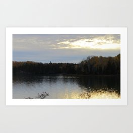 Downeast Autumn Reflections of Scattered Illuminations Art Print