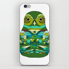 Green Owl iPhone & iPod Skin