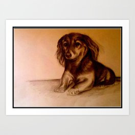 Rudy's 7th birthday. Puppy for Life. Art Print