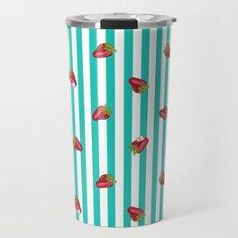 Sassy Strawberry Stripes Travel Mug