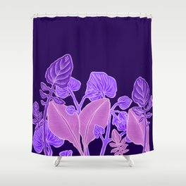 Key Lime Leaves Shower Curtain